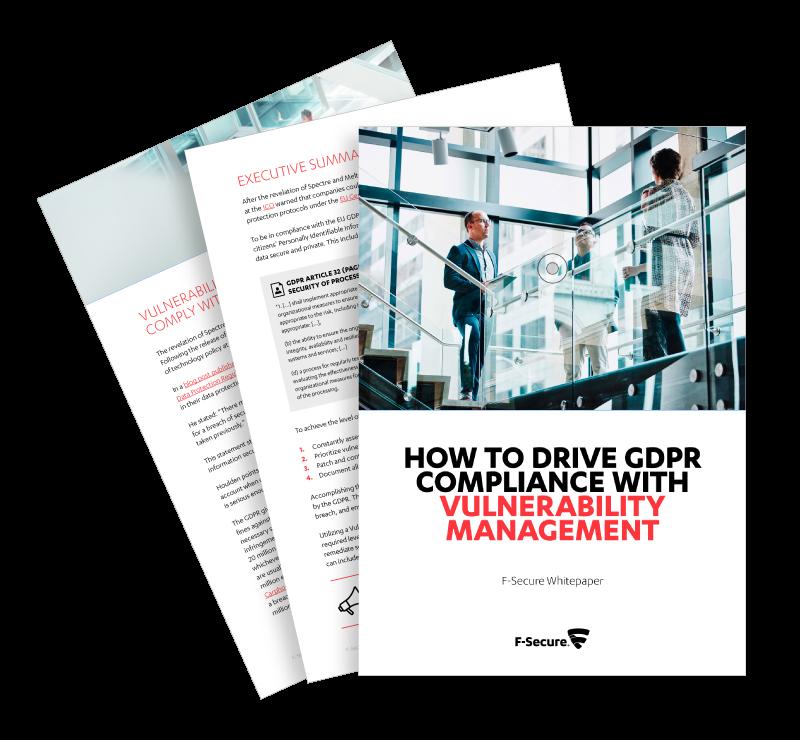 F-Secure GDPR Vulnerability Management Whitepaper