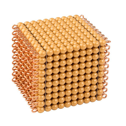 One Golden Bead Cube Of 1000: Individual Beads