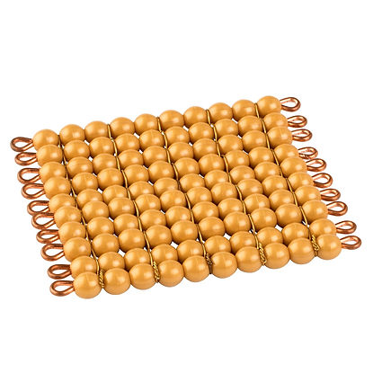 One Golden Bead Square Of 100: Individual Beads