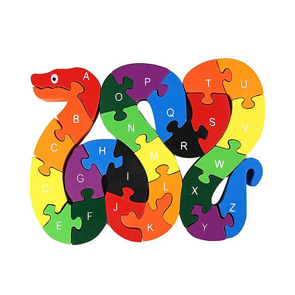 Snake Letters and Numbers Wooden Jigsaw Puzzle Game