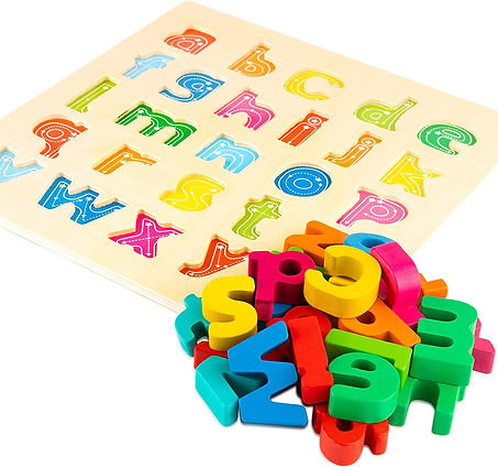 Wooden Puzzle Sandpaper Letters Spelling Game