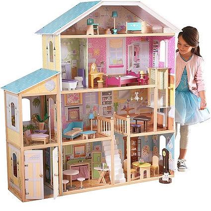 Wooden children's doll dollhouse furniture
