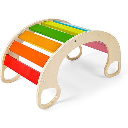 Children's wooden rainbow rocking chair
