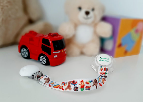Soother holder + pacifier emmis klemmis 2-pack