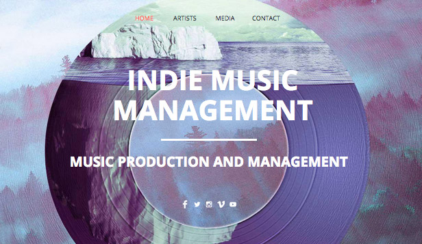 Musik website templates – Indie-Musikproduktion