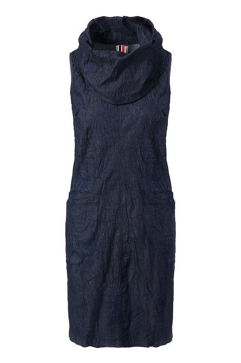 שמלת שרוך ג'ינס כחול