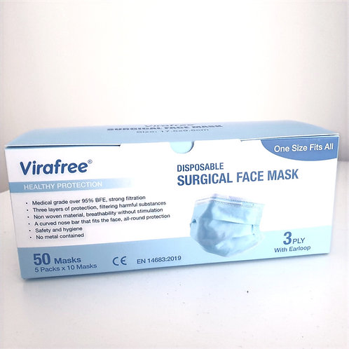 Disposable Surgical Face Masks (50 Pack)