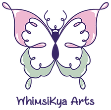 Butterfly Logo for WhimsiKya Arts