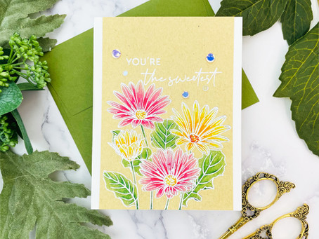 Altenew Paint-A-Flower: African Daisy Outline Stamp Set Release Blog Hop + Giveaway