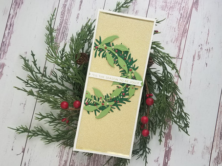 Spellbinders|Slimline Card using Foliage and Ladybugs Die