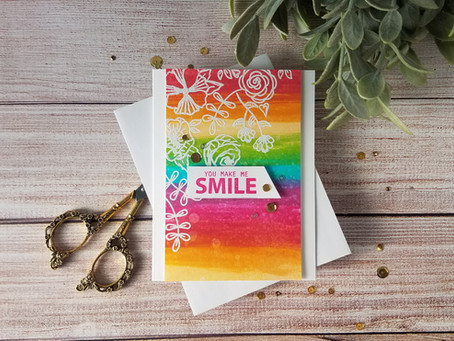Simon Hurley|Doodle Floral Stamp and Direct to Paper Inking
