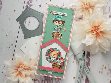 Lawn Fawn|Special Delivery Interactive Slimline Card