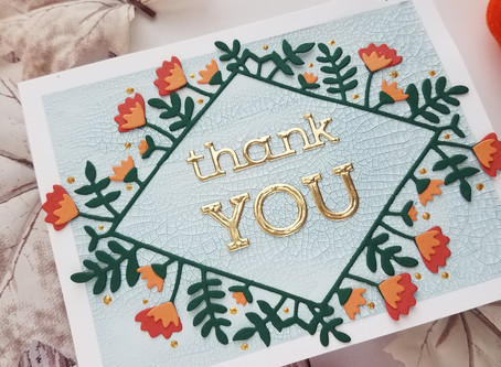 "Spellbinders|Small Die of the Month September ""Hello and Thank You"""