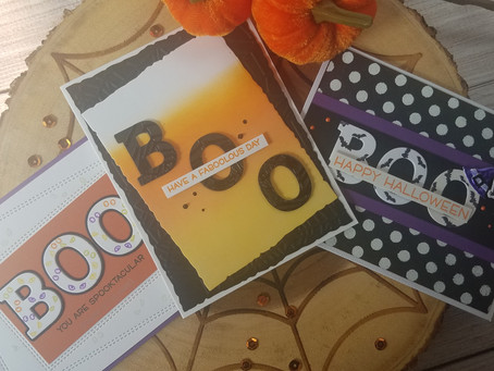 """Cute """"Boo"""" Cards for Halloween"""