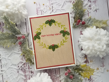Day 6: 12 Days of Christmas...Stenciling on wood cardstock