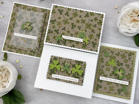 Taylored Expressions|Create Multiple Cards with a Stamp and Stencil Combo