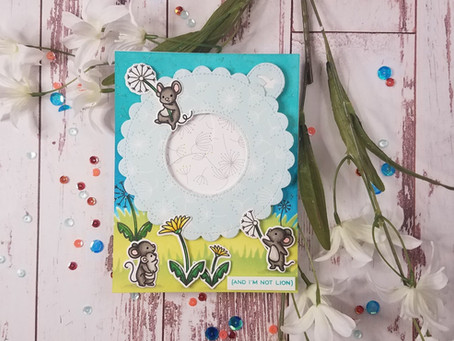 Lawn fawn| Magic Iris Die and Dandy Day Stamp