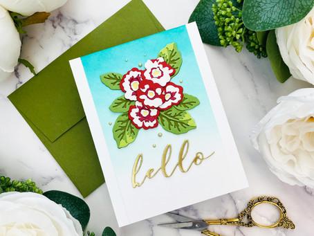 Altenew Craft-A-Flower: Primrose Blossom  Release Blog Hop + Giveaway