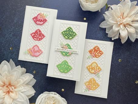 Spellbinders|Small Die of the Month..Trefoil Tile & Panel Card Creator