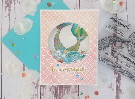 How to make a Mermaid Shaker Card