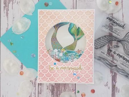 How to make a Mermaid Shaker Card