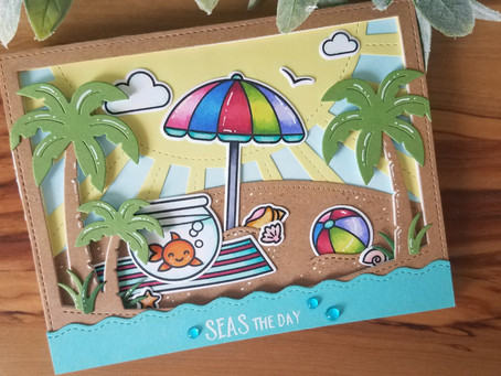 Lawn Fawn New Summer Release A Fish's Journey Card 2