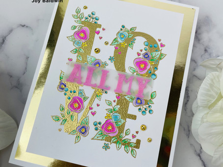 Spellbinders|Zig Coloring using the Love Block Stamp