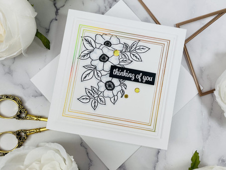 Spellbinders|Making a Simple Glimmer Hot  Foil Card