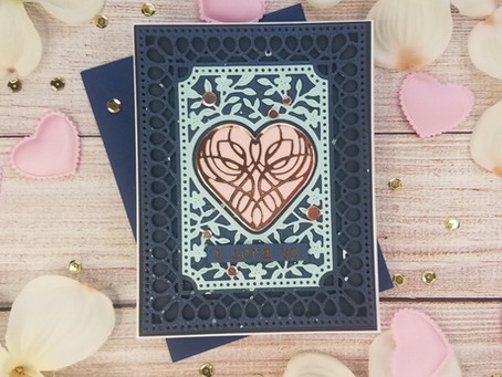 Spellbinders|Lovely Card Creator Small Die of the month