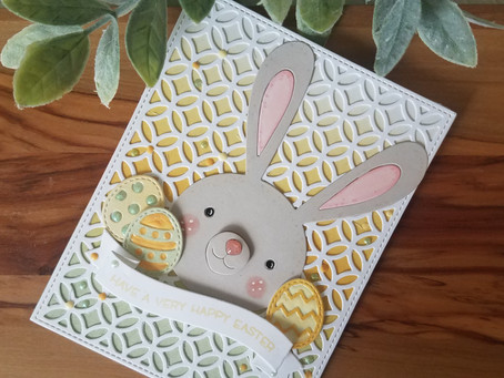 Eater Bunny Card using Die Cuts and Distress Inks