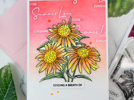 Altenew Paint-A-Flower: White Swan Echinacea Outline Stamp Set Release Blog Hop + Giveaway