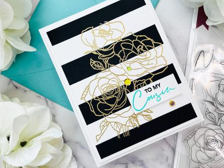 Altenew Paint-A-Flower: Rosa Floribunda Outline Stamp Set Release Blog Hop + Giveaway