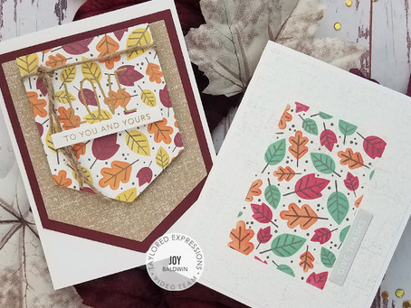 Taylored Expressions|Fall Foliage Background Stamp & Stencil