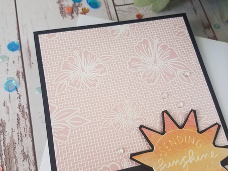 Simon Hurley|Luau Background Stamp|Heat Embossing using a Background Stamp