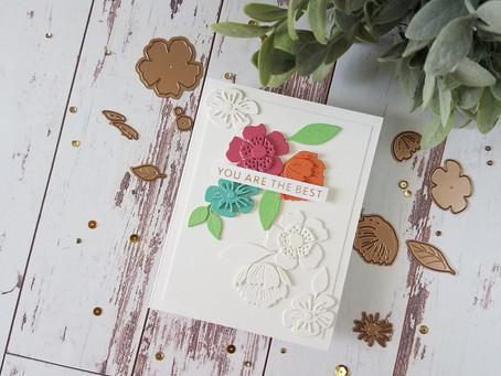 """How to Spotlight a Die Cut Using Spellbinders """"Handing You a Smile"""" Small Die Of The Month for June"""