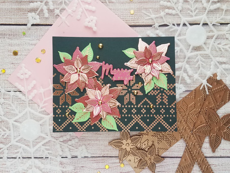 Spellbinders|Non-Traditional Christmas Colors using Sparkling Christmas Collection