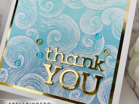 Spellbinders|Gel Press Background with the Windy Sky Stamp