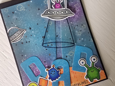 "Beam me up ""Dad"" glow in the dark                   interactive card"