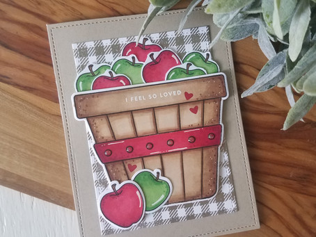 Fall Apple bushel card