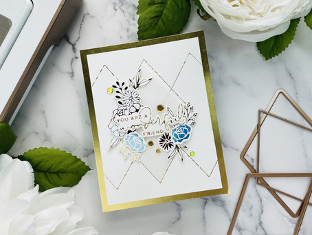 Spellbinders|Creating Colorful Flowers with Glimmer Hot Foil..Yana's Blooming Birthday Collection
