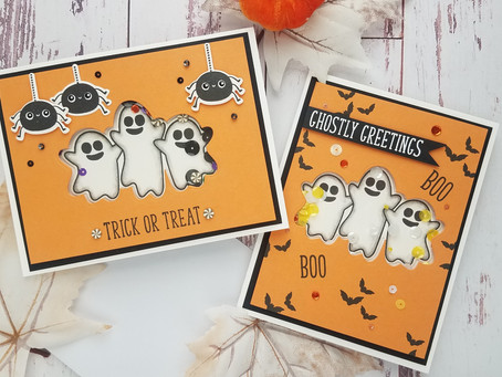 Gina K. Designs| Halloween Shaker Cards