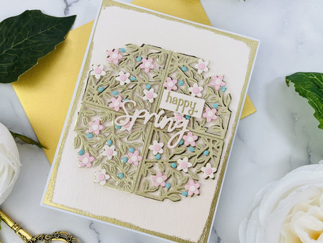 Spellbinders|How I Modified the Small Die of the Month..Spring Flowers Card Creator