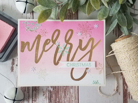 One Layered Christmas Cards in Non-Traditional Colors