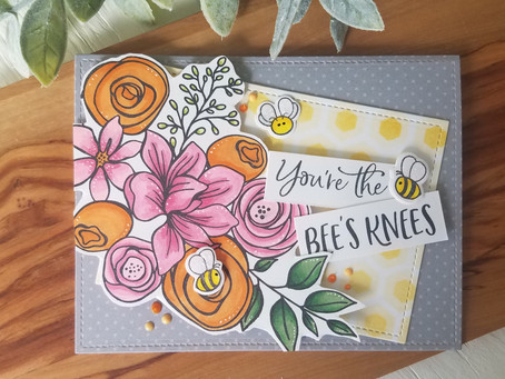 Bee's Knees Stenciled and Patterned Paper Background