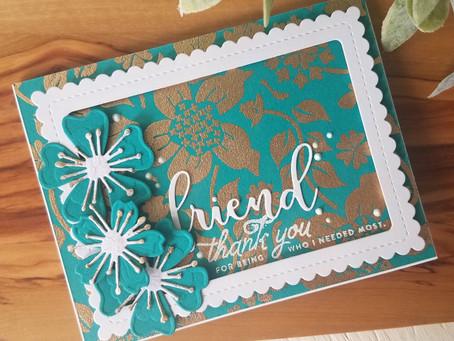 Simon Hurley New Release Flower Garden Background Stamp