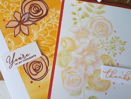 2 cards, Alcohol Ink backgrounds and Alcohol Life-Ink