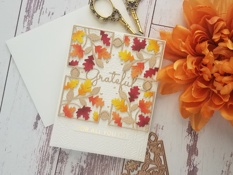 "Spellbinders|Small Die of the Month ""Fall Leaves Card Creator"""