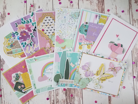 """Making 10 Cards using Spellbinders """"All The Little Things"""" Card Kit"""