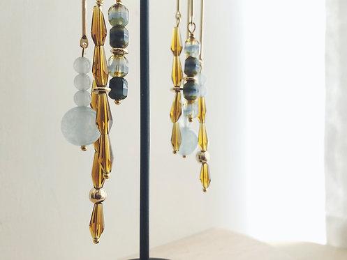 Wind-chime Earrings - Blue