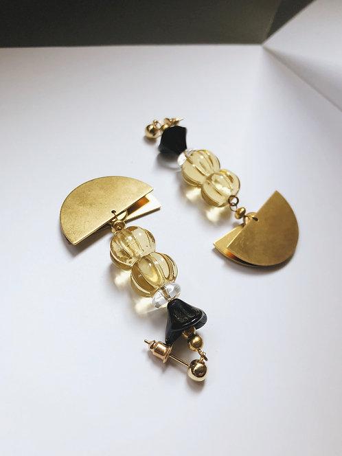 ir. Glass Candy Earrings - Honey
